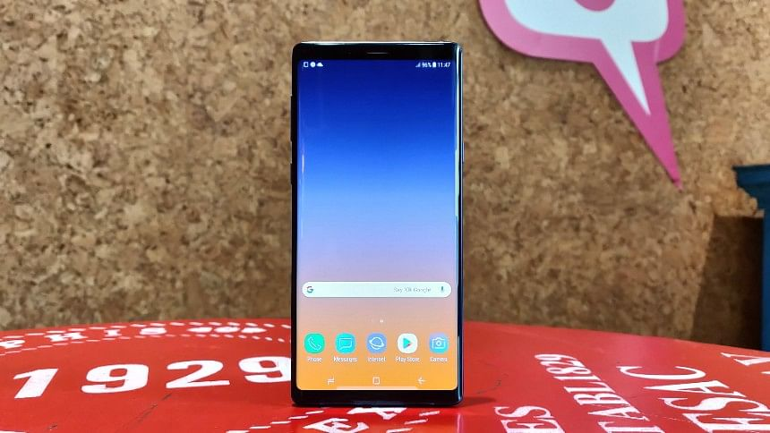 The Samsung Galaxy Note 9.