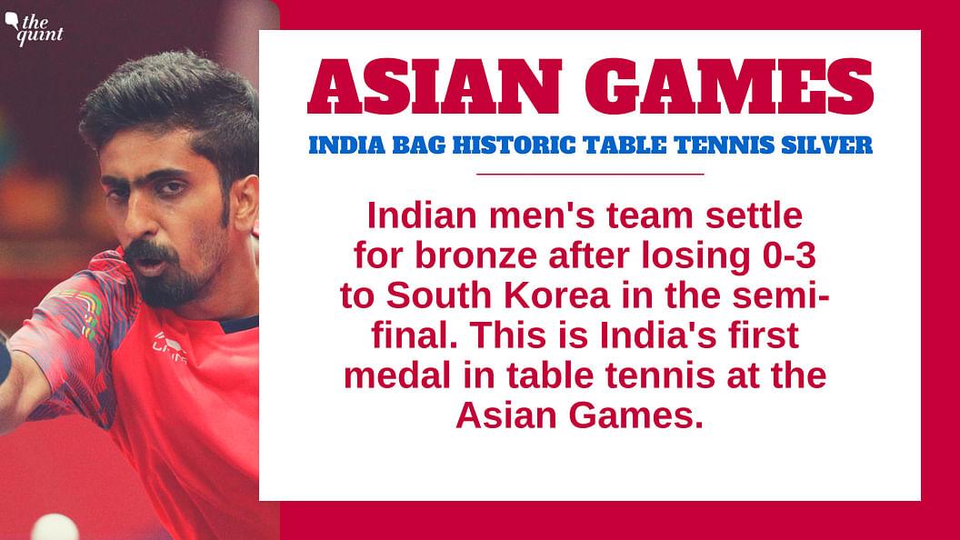Indian Men's Team Bag Bronze, 1st Table Tennis Medal at Asiad