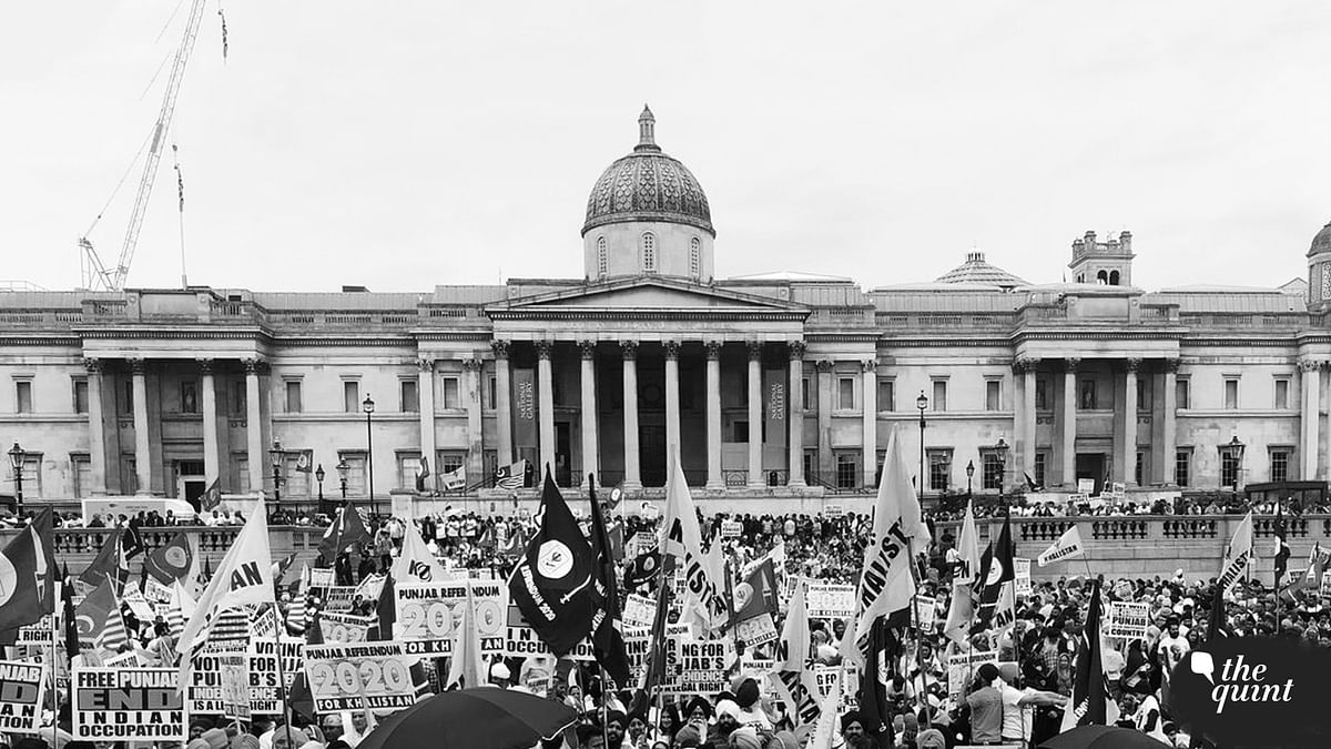 An image shared by the organisers of the 'Referendum 2020' rally, held in London on Sunday, 12 August.