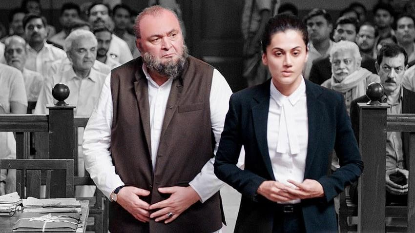 Rishi Kapoor and Taapsee Pannu in a still from <i>Mulk</i>.&nbsp;