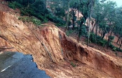 Kodagu: A view of the coffee estate that was destroyed in the recent floods that hit Madikeri in Kodagu district of Karnataka on Aug 26, 2018. (Photo: IANS)