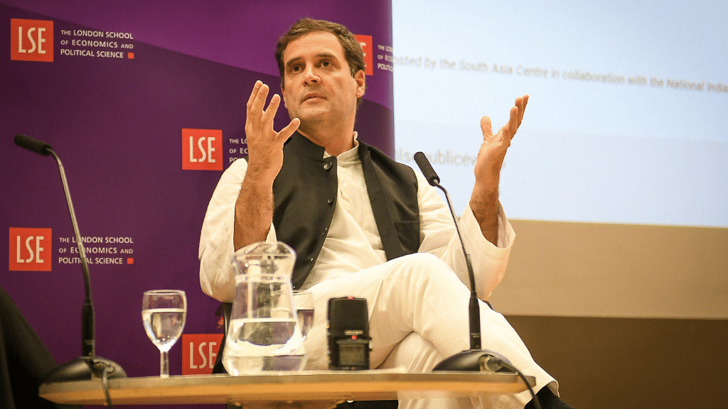 '2019 Will Be a Battle of Ideologies': Rahul Gandhi  at LSE