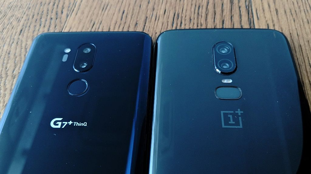 LG G7+ ThinQ (left) and OnePlus 6 (right)