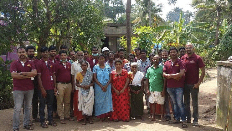 The team also went to Chalakudy to electrify an orphanage which had been affected by the floods.
