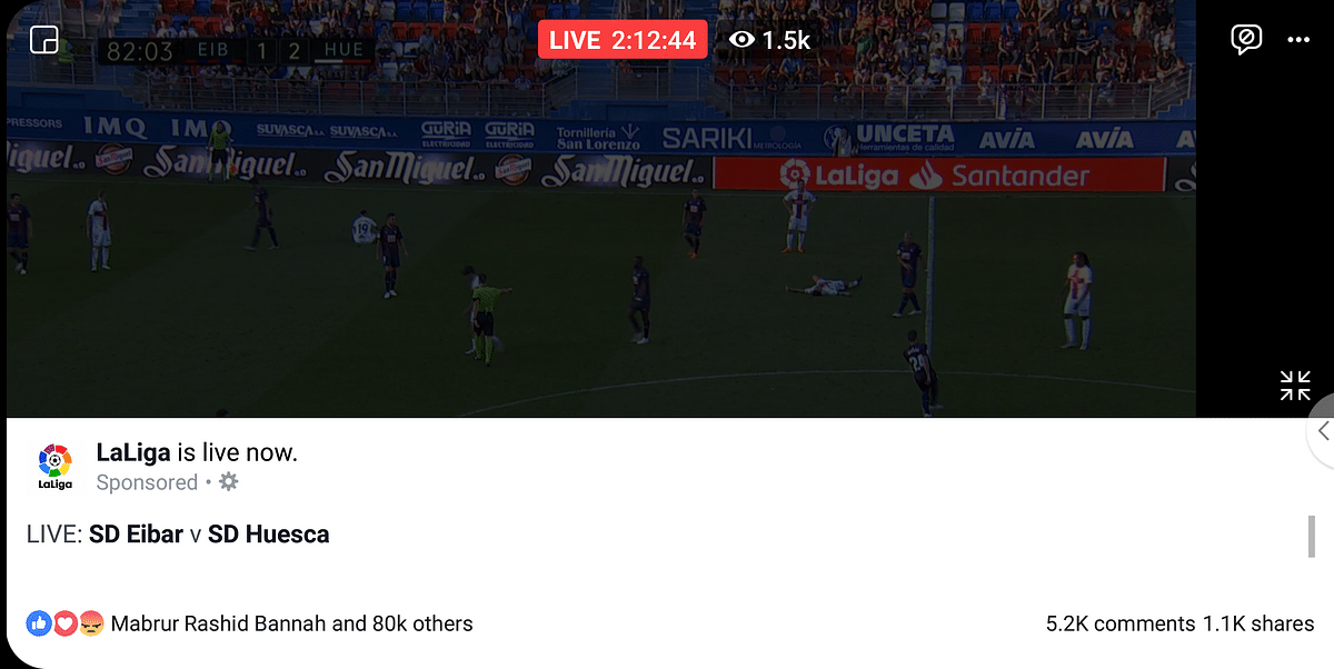 Watching live matches on Facebook is going to be a new experience.