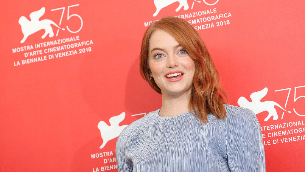 Emma Stone at the opening night of the Venice Film Festival.