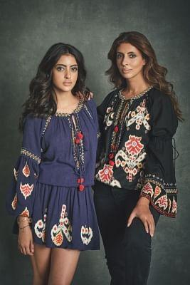 Shweta Bachchan Nanda and daughter Navya.