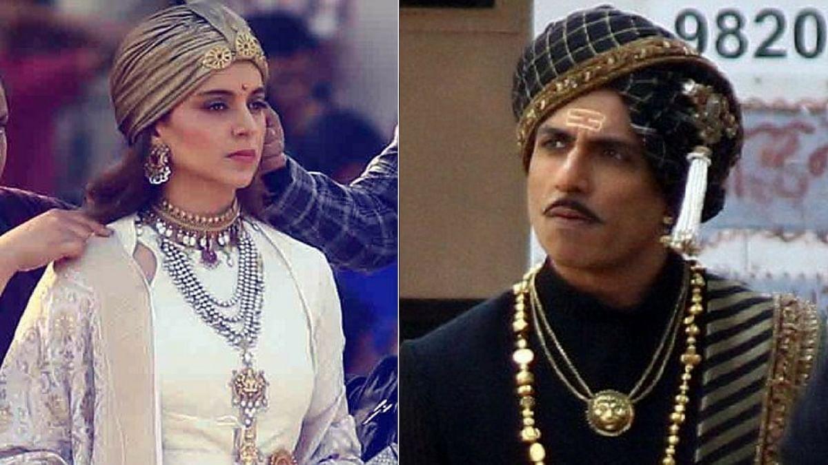 Kangana Ranaut and Sonu Sood in their <i>Manikarnika</i> looks.&nbsp;