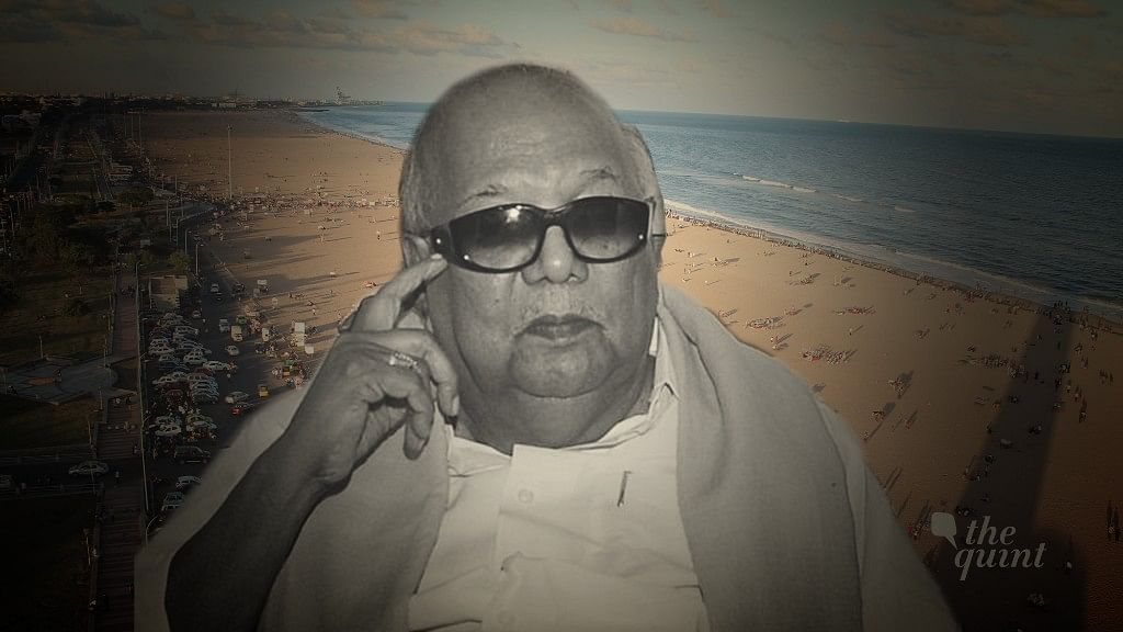 Why Karunanidhi Deserves to be Laid to Rest at Marina Beach