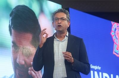 """New Delhi: Google Vice President Southeast Asia and India Rajan Anandan addresses during """"Google for India"""" programme in New Delhi, on Aug 28, 2018. (Photo: IANS)"""