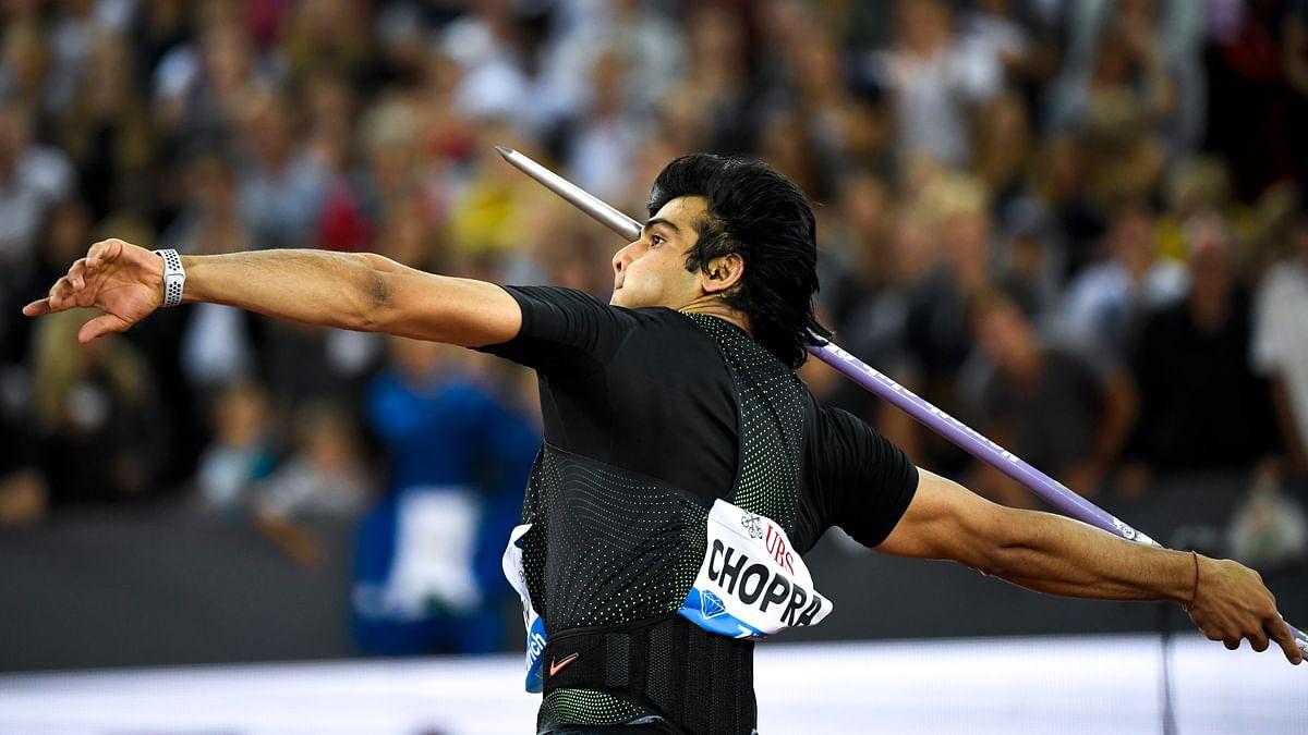 Neeraj Chopra in action at the Diamond league, Zurich.