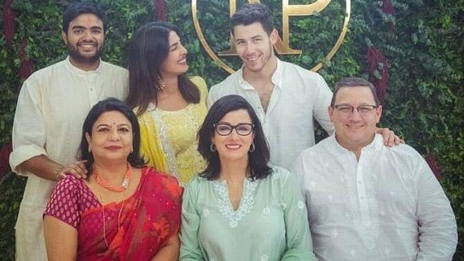 Nickyanka's roka ceremony with family.