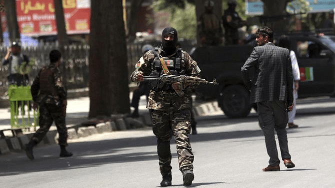 Representational image of a Kabul security personnel.
