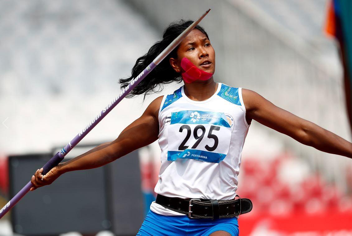 Swapna Barman's Javelin throw