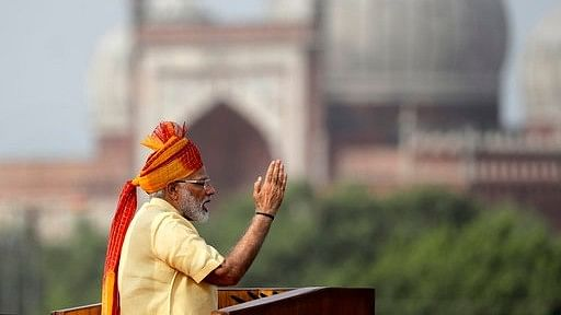 Prime Minister Narendra Modi addressing the people on 71st Independence Day at Red Fort.