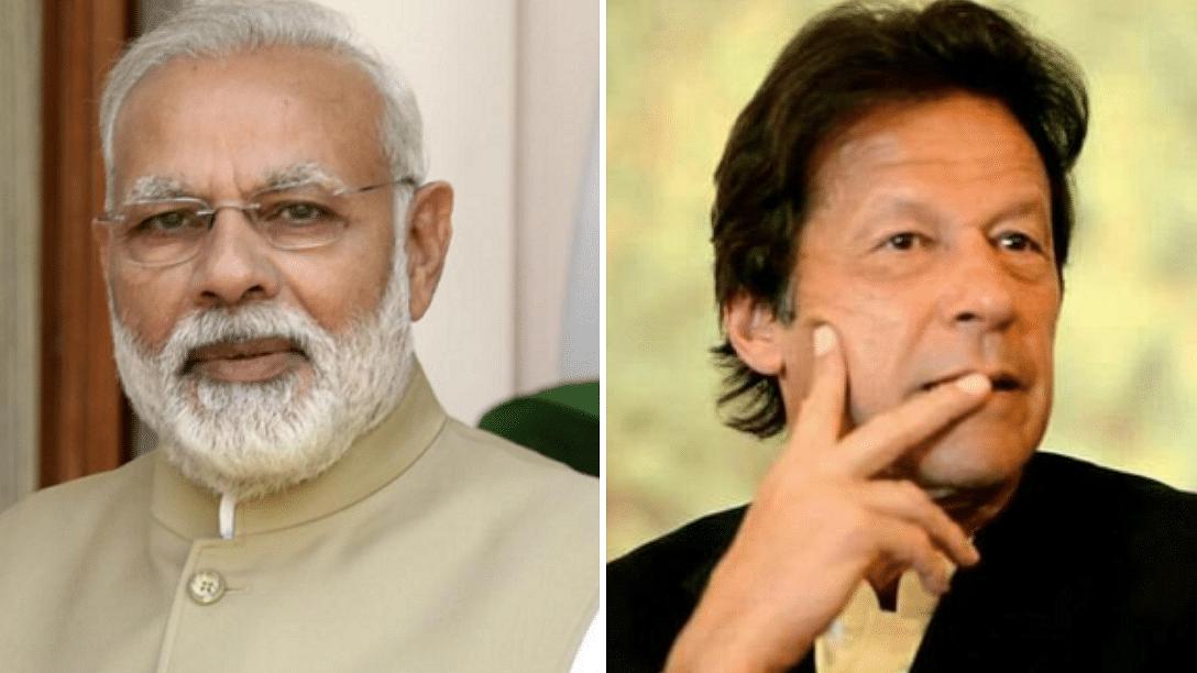 Prime Minister Narendra Modi (L) and Pakistan PM Imran Khan.
