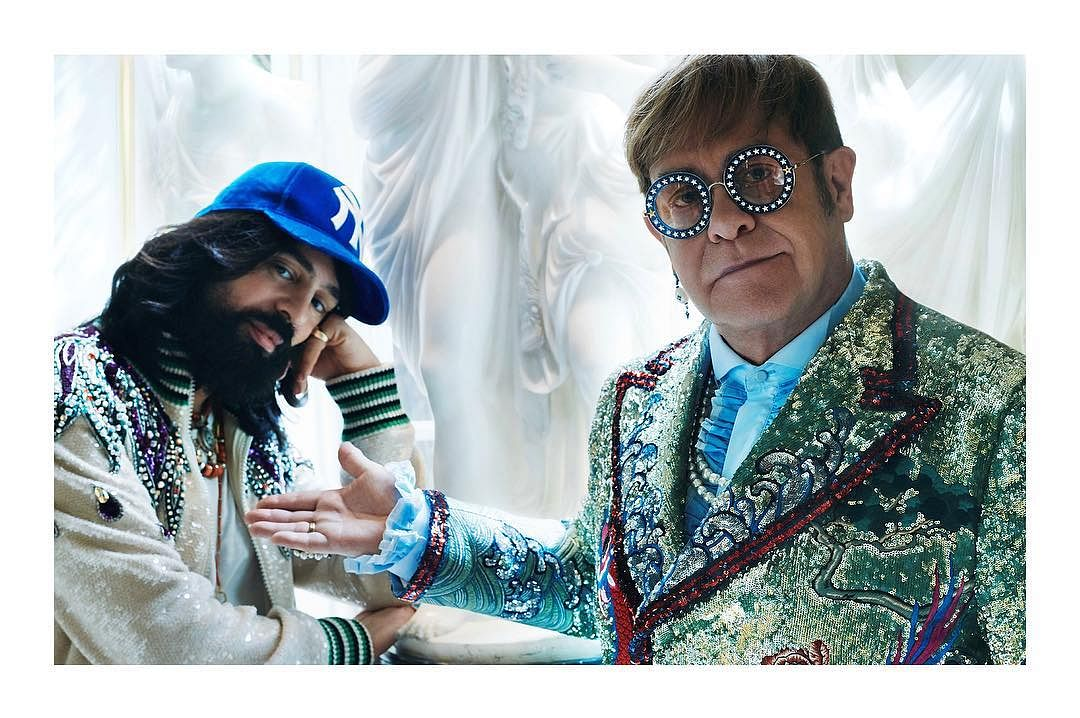 How about Ranveer donning the Elton John Gucci outfit?