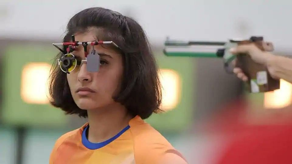 Manu Bhaker got eliminated after finishing sixth despite shooting a Games Record total of 593.