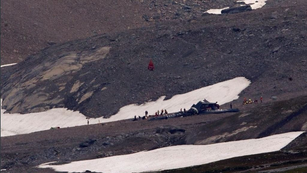 Up to 20 people are feared dead after a vintage World War II aircraft crashed into a Swiss mountainside.