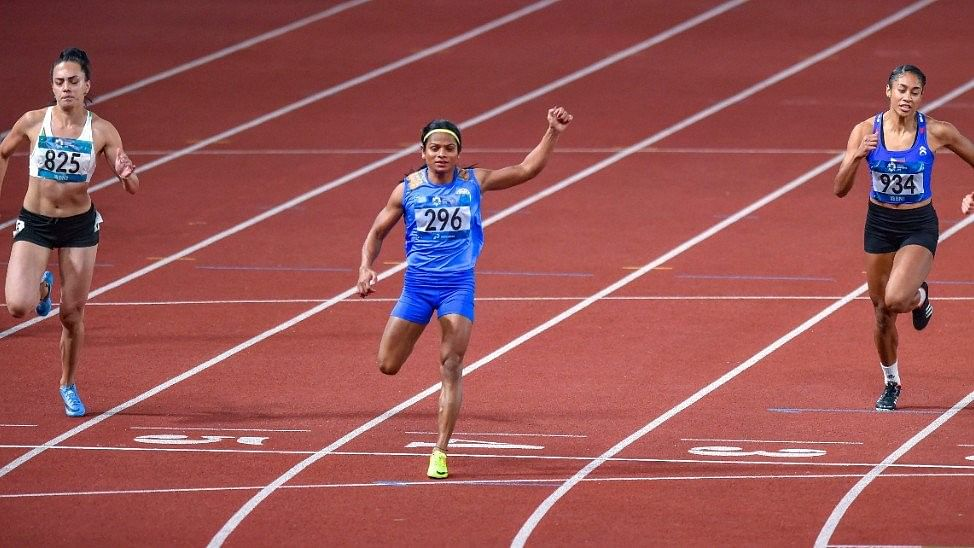 Dutee Chand made it to the semi-finals of the women's 200m along with Hima Das.