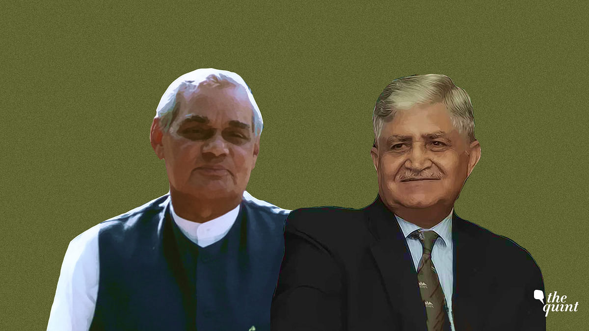 Former Prime Minister Atal Bihari Vajpayee and Former Chief of Army Staff General (Retd.) Ved Prakash Malik.