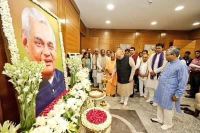 New Delhi: BJP chief Amit Shah inaugurates a day-long meeting of the BJP Chief Ministers