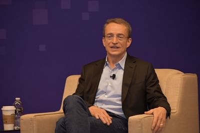 "Las Vegas: VMware CEO Pat Gelsinger during his keynote address at ""VMWorld 2018"" conference in Las Vegas on Aug 27, 2018. (Photo: IANS)"