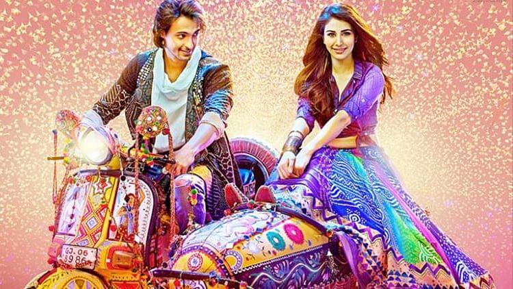 Aayush Sharma and Warina Hussain in <i>Loveratri</i>.