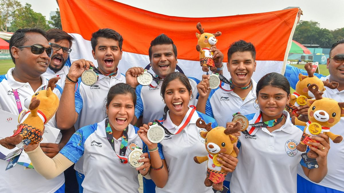 Twitter Celebrates India's Double Silver in Archery at the Asiad
