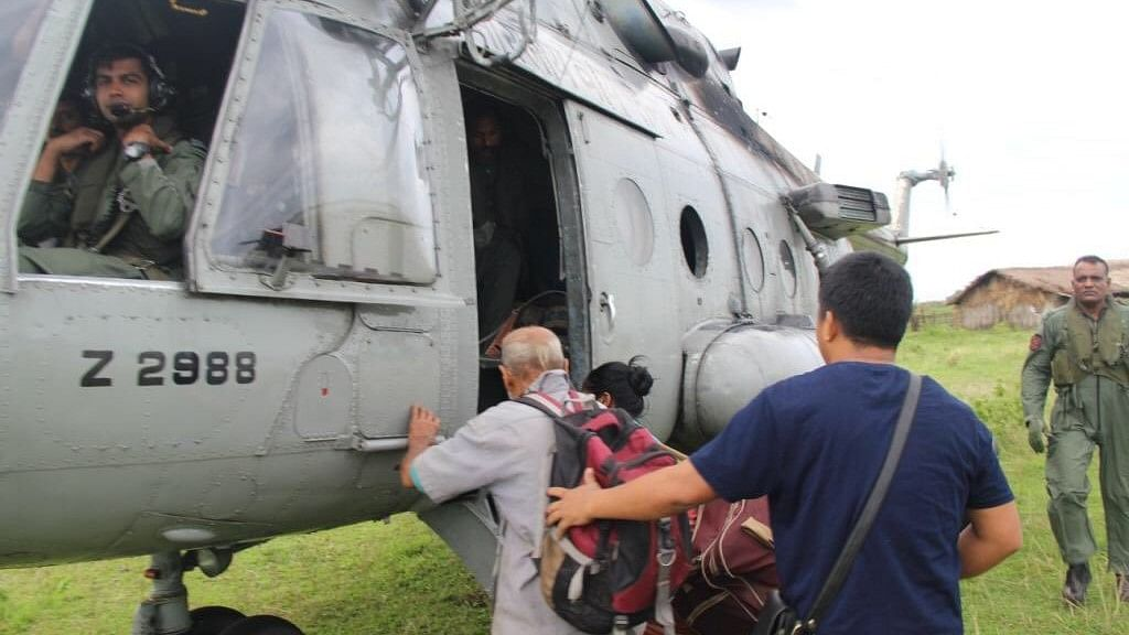 IAF Rescues 19 People From a Flooded Island in Arunachal Pradesh