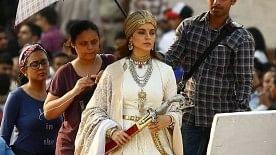 Actress Kangana Ranaut during shooting of her upcoming film <i>Manikarnika: The Queen of Jhansi</i> at Amber Fort in Jaipur.&nbsp;