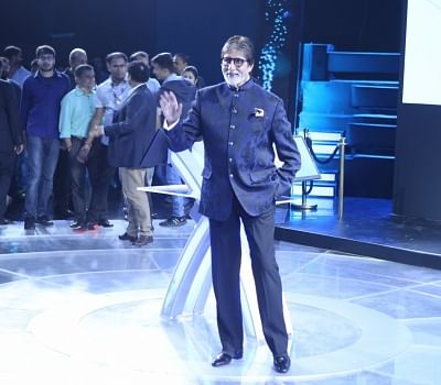 "Mumbai: Actor Amitabh Bachchan during a press conference of ""Kaun Banega Crorepati"" Season 10  in Mumbai on Aug 28, 2018.(Photo: IANS)"