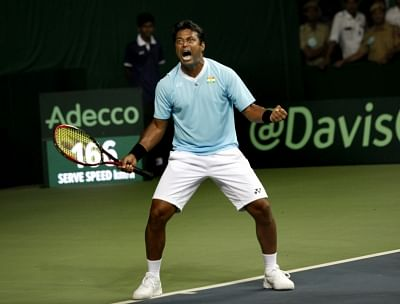 Indian tennis player Leander Paes. (File Photo: IANS)