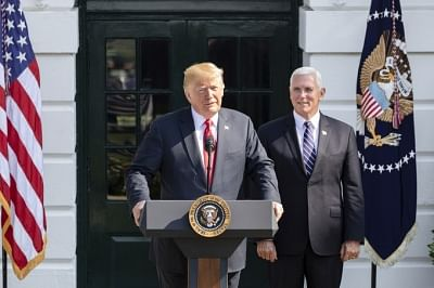 United States President Donald Trump and Vice President Mike Pence. (Photo: White House/IANS)