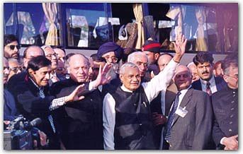 Vajpayee traveled to Pakistan in 1999, by the Delhi to Lahore bus.