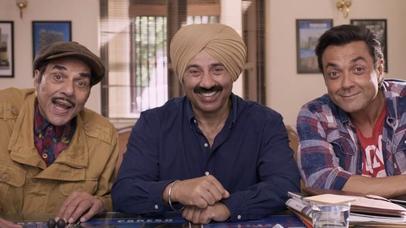 The Deol trio in a still from the trailer of <i>Yamla Pagla Deewana: Phir Se.</i>
