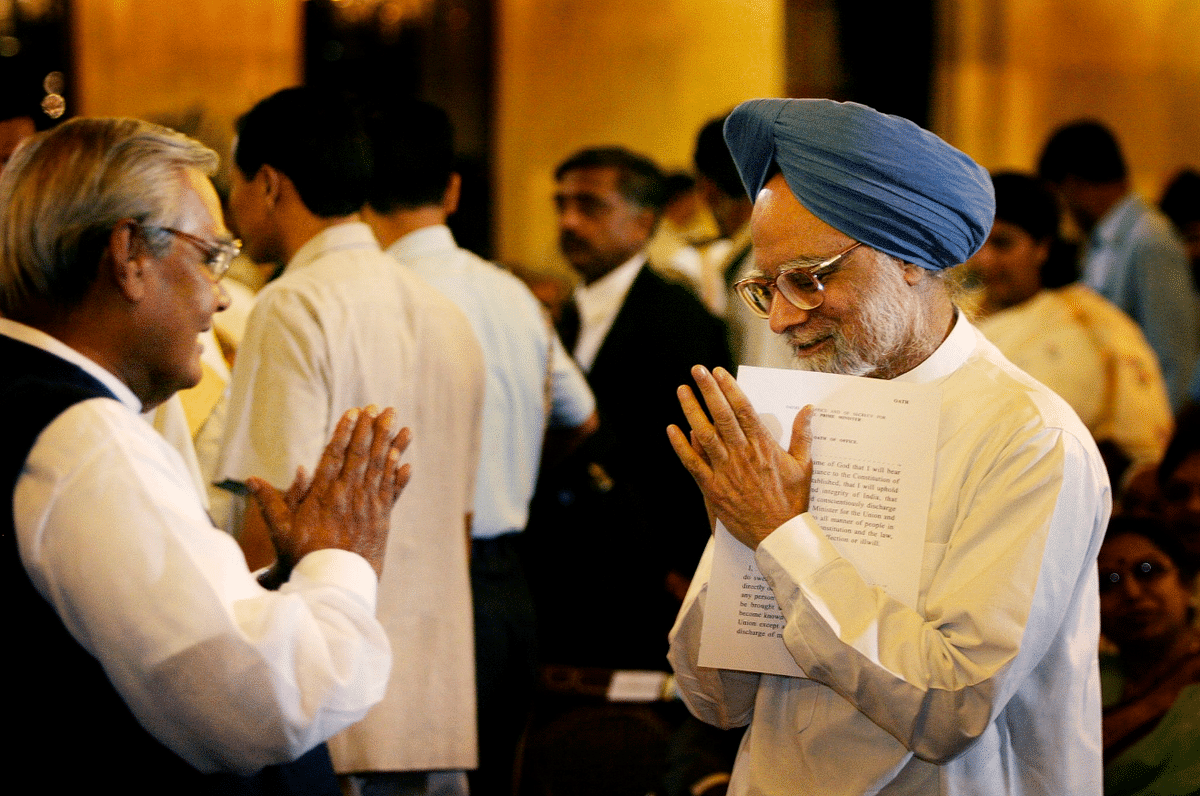 Two former prime minister's in one frame, Vajpayee and Manmohan Singh.