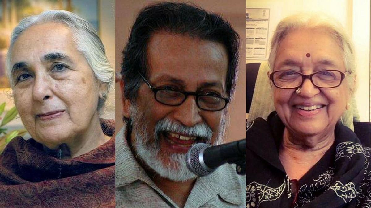 Three of the petitioners: Romila Thapar (left), Prabhat Patnaik (centre) and Devaki Jain (right).