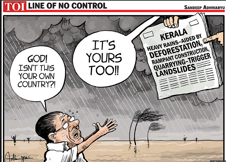 TOI's cartoon on the floods has prompted a lot of anger in the state.