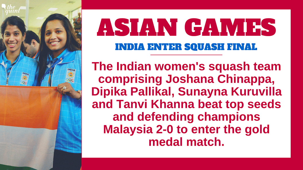 India bt Two-Time Defending Champs Malaysia in Women's Squash S/F