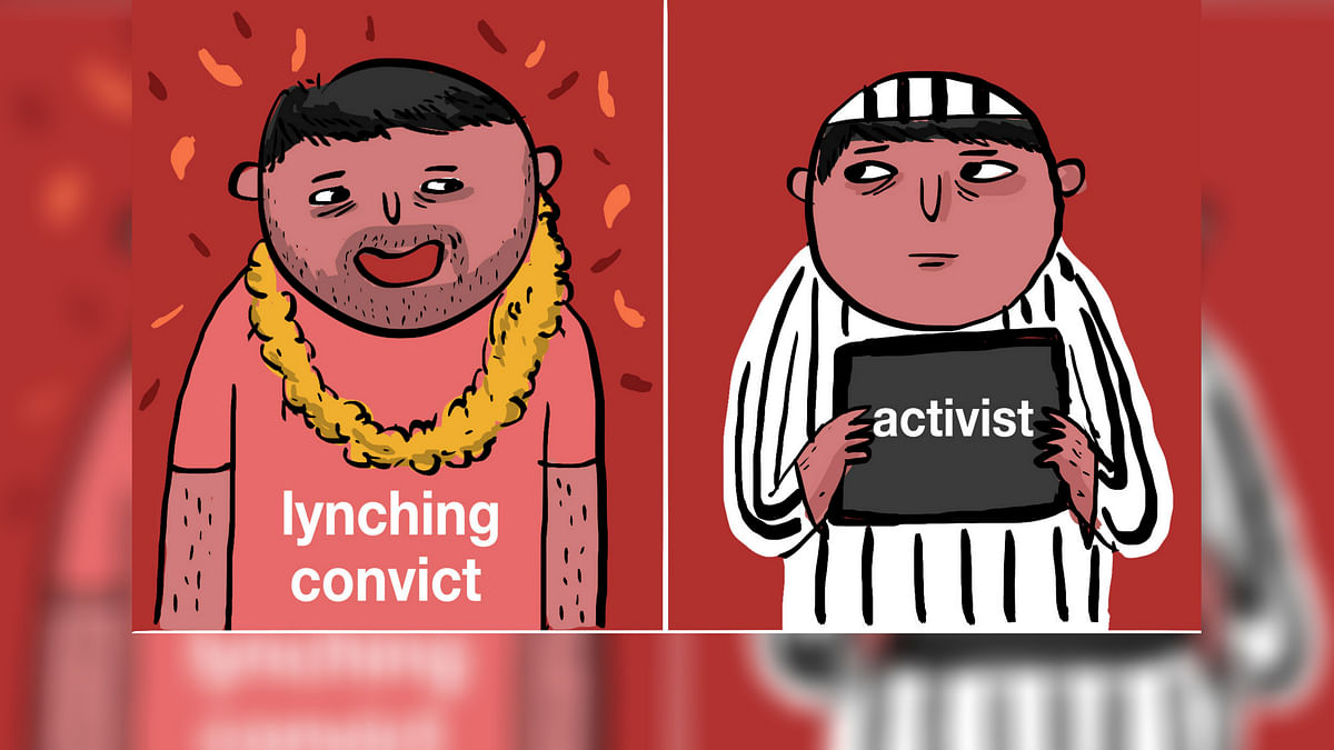Cartoon: Lynching Convicts Get Bail, Activists Land in Jail