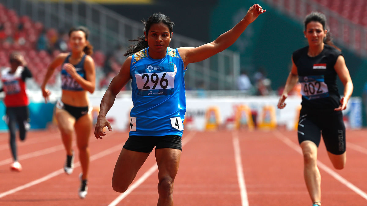 Dutee Chand has qualified for the women's 200m semi-finals.