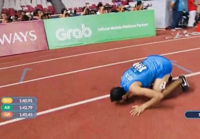 Jakarta: Manjit Singh took Gold in 800m men