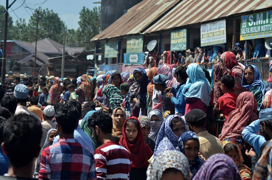 Large number of women were among those who gathered.