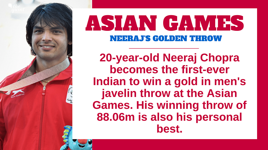 Neeraj Chopra Wins India's First-Ever Javelin Throw Gold at Asiad