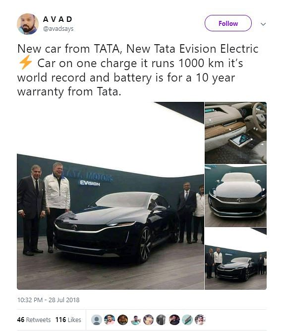 Tata E-Vision Maybe A Good Car, But Don't Let Fake Claims Fool You