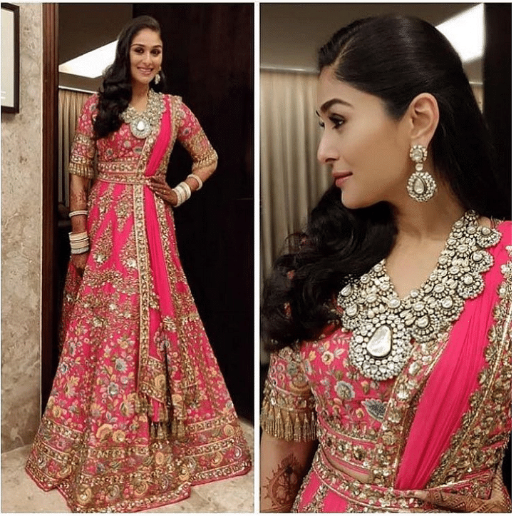 Manish Malhotra dressed up Poorna Patel for all the functions for her big-fat Bollywood wedding.