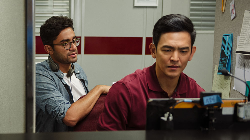 Director Aneesh Chaganty with actor, John Cho.