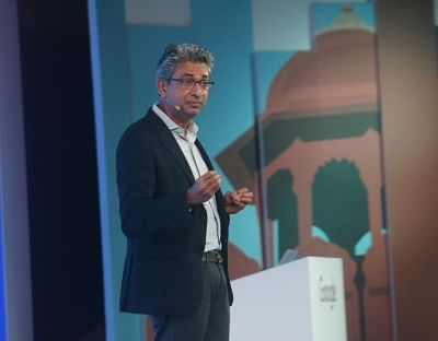 "New Delhi: Google Vice President Southeast Asia and India Rajan Anandan addresses during ""Google for India"" programme in New Delhi, on Aug 28, 2018. (Photo: IANS)"