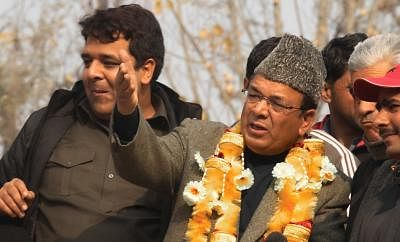 Former Jammu and Kashmir Finance Minister and National Conference leader Abdul Rahim Rather. (Photo: IANS)